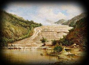 Pink and White Terraces - Blomfield: The Pink Terraces (1884)