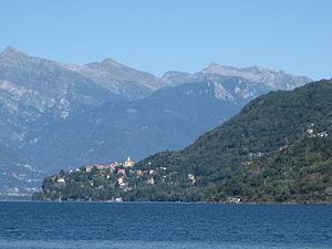 Pino sulla Sponda del Lago Maggiore - Pino sulla Sponda del Lago Maggiore as seen from the western side of the lake