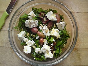 Cuisine of the Ionian islands - Image: Pissara and pine nut salad