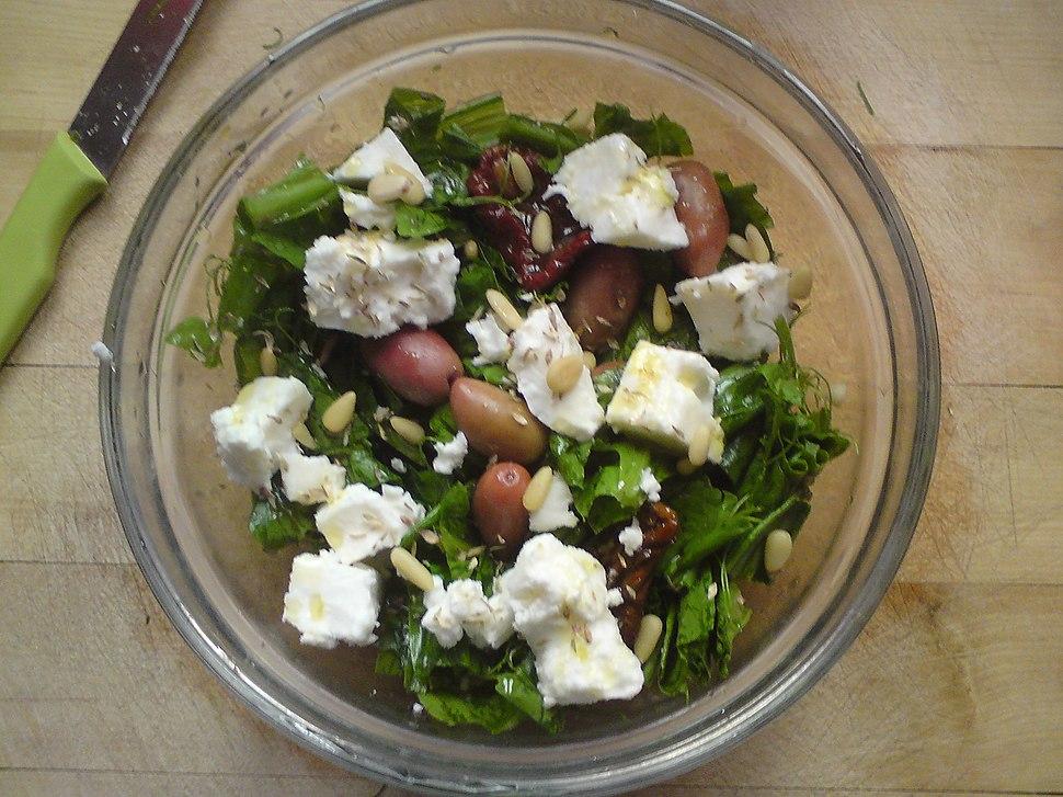 Pissara and pine-nut salad