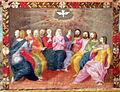 Pittore tosco-emiliano, misteri del rosario, 1550-1600 circa 14 pentecoste.JPG