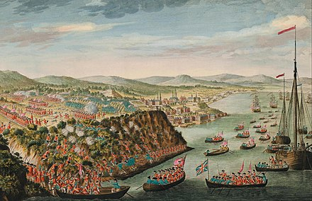 James Wolfe's victory at the Battle of Quebec in 1759. PlainsOfAbraham2007.jpg