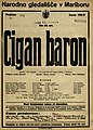 Plakat za predstavo Cigan baron v Narodnem gledališču v Mariboru 20. marca 1927.jpg