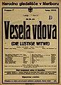 Plakat za predstavo Vesela vdova v Narodnem gledališču v Mariboru 29. novembra 1925.jpg