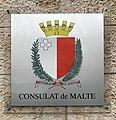 Plaque du consulat de Malte à Lyon (2019).jpg