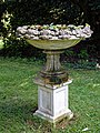 Plinth bowl planter at Easton Lodge Gardens, Little Easton, Essex, England.jpg