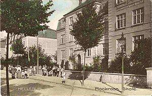 Øregård Gymnasium - Plockross' School in 1908