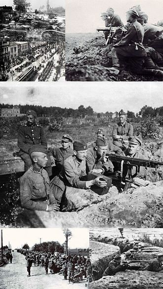 Polish–Soviet War - Image: Polish soviet war montage