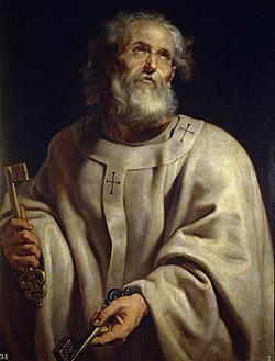 Św. Piotr - według Kościoła rzymskokatolickiego pierwszy papież