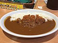 Pork cutlet curry and potato salad at my curry diner, mitaka (42221632400).jpg