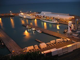 Napier, New Zealand - Port of Napier at night