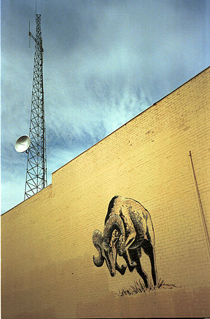 Portales, New Mexico - High School Spirit Wall downtown