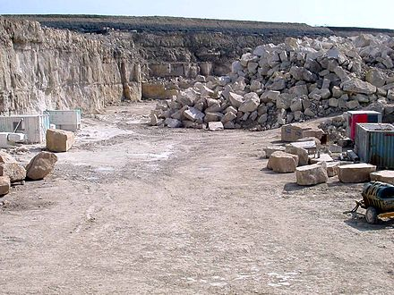 Portland stone quarry on the Isle of Portland PortlandQuarry.jpg