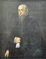 Portrait d'homme âgé tenant un mouchoir