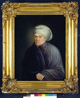 Marie-Thérèse Bourgeois Chouteau - Oil on board portrait of Madame Marie Therese Bourgeois Chouteau