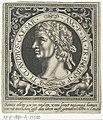 Portret van Claudius op medaillon Romeinse keizers (serietitel), RP-P-1890-A-15500.jpg