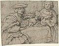 Portret van een aan tafel zittende man en vrouw, RP-T-1949-551.jpg