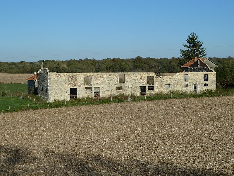 """Possesse 51, Vadivière (""""vadum veriœ"""", gué sur la Vière, du nom du ruisseau que l'on traverse à cet endroit.), au bord de la route RD 994 (ancienne Voie romaine Reims-Metz). Certains y voient la station romaine nommée """"Ariola"""" dans l'itinéraire d'Antonin, que d'autres localisent à """"Maison du Val"""" - localisation: 48.905186,4.89326 - ce bêtiment en ruines a été détruit peu après cette photo."""