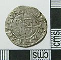 Post-Medieval Coin , Halfgroat of Henry VIII (reverse) (FindID 577259).jpg