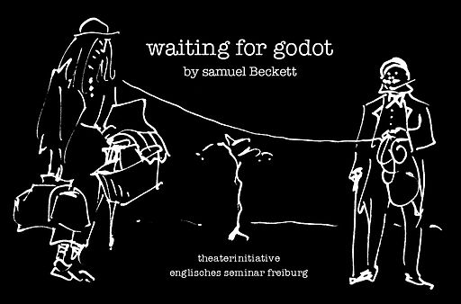 "Poster for drama performance of ""Waiting for Godot"""