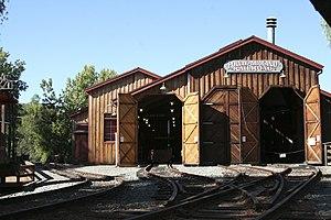 Poway–Midland Railroad - Train shed, 21 September 2007