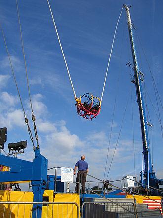 Reverse bungee - Passenger car immediately after launch.