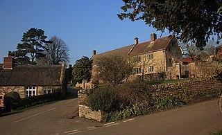 Powerstock village in the United Kingdom