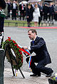 President Medvedev Laying a wreath at Norway's National Monument big225603.jpg