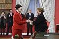 """Presidenta en nombramiento de ministra de la Mujer y Equidad de Género- """"Estamos cumpliendo un compromiso que asumimos ante Chile"""" (26829792584).jpg"""