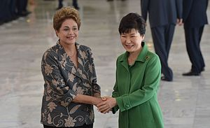 Brazil–South Korea relations - President of South Korea, Park Geun-hye, visiting Brazil in 2015.