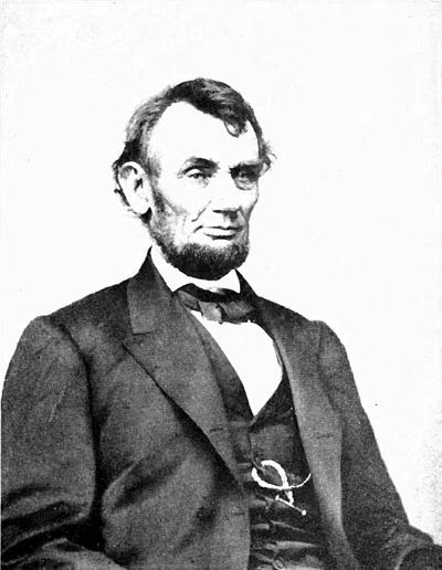 Presidents v2 frontispiece - Abraham Lincoln seated.jpg