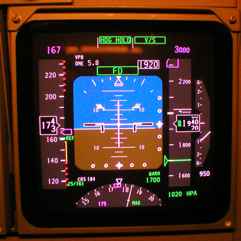 File Primary Flight Display Boeing 747 400 Png