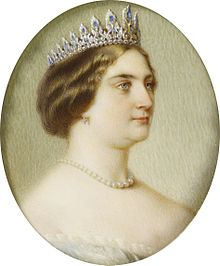 Princess Augusta, Grand Duchess of Mecklenburg-Strelitz in 1861 by Anton Hähnisch.jpg