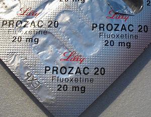 Prozac, a selective serotonin reuptake inhibit...