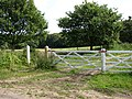 Public Footpath and track near Frogshall Farm - geograph.org.uk - 534982.jpg