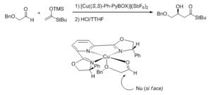 Bisoxazoline ligand - PyBox Stereochemical model