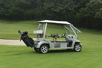 Golf cart - A common electric golf cart.