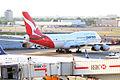Qantas, VH-OJU, Boeing 747-438 (16270083759).jpg