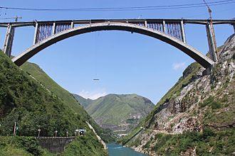 Shanghai–Kunming high-speed railway - Image: Qinglong Railway Bridge