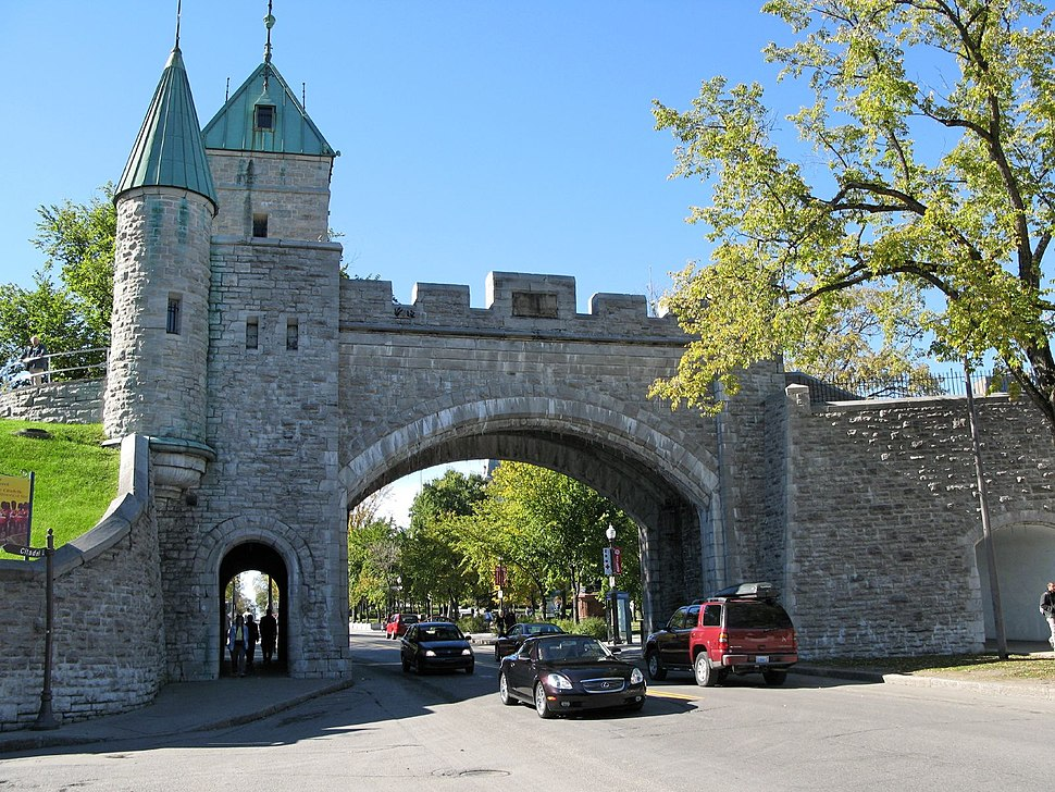 Porte St. Louis, part of Ramparts of Quebec City, the only remaining fortified city walls in North America north of Mexico