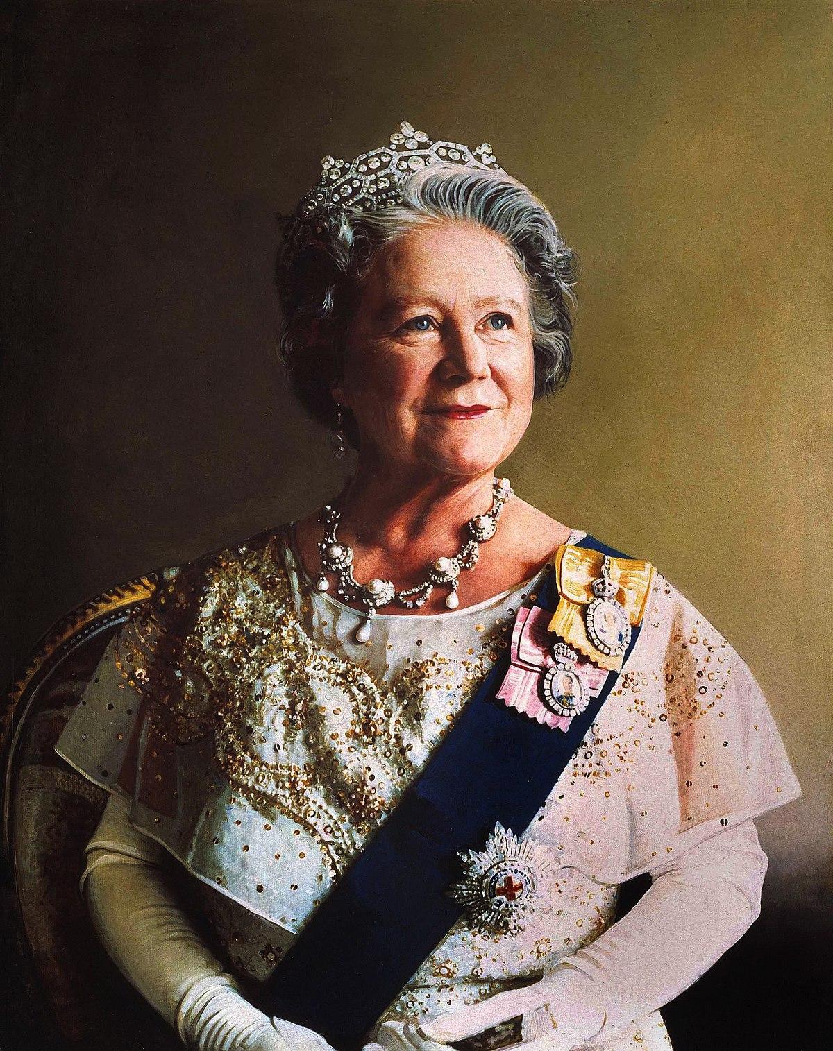 File:Queen Elizabeth the Queen Mother portrait.jpg - Wikimedia Commons