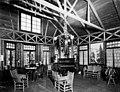 Qui Si Sana Sanatorium and Biological Institution, Pavilion interior showing Dr Louis Dechmann sitting in chair, 1913 (WASTATE 1555).jpeg