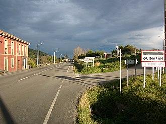 Guimarán - AS-19 road in Quimarán