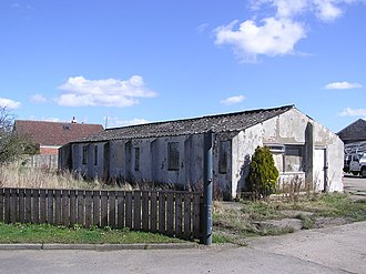 RAF Croft - A building at Cockleberry Saw Mill which was part of RAF Croft during the Second World War