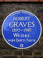 ROBERT GRAVES 1895-1985 Writer was born here.jpg
