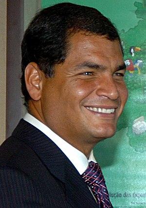 Ecuador's president-elect Rafael Correa.