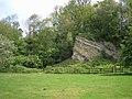 Ragstone outcrop, Dryhill Nature Reserve, Kent - geograph.org.uk - 168246.jpg