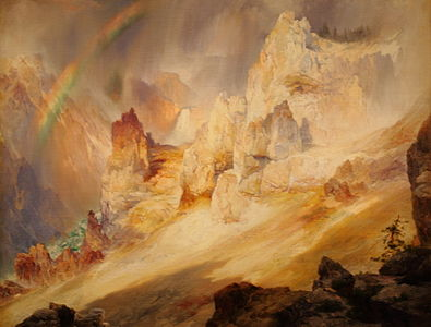 Rainbow over the Grand Canyon of the Yellowstone.JPG