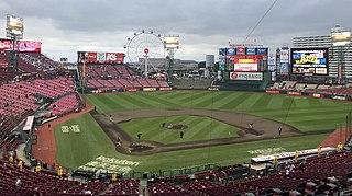 Rakuten Seimei Park Miyagi Baseball stadium in Sendai, Japan