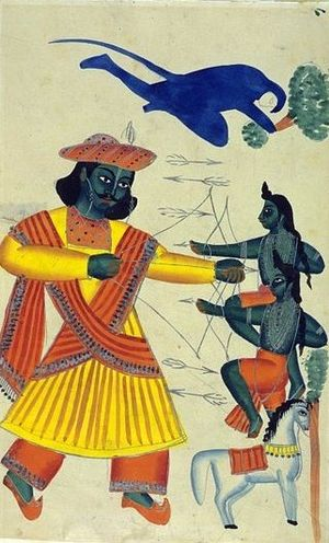 Origins of Lahore - Rama fighting Lava and Kusha.